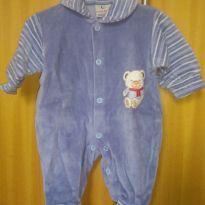 1627-Macacão azul ursinho - Prematuro - Creep Baby