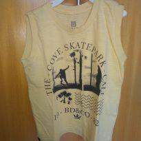 1614-Camiseta regata amarela - 24 a 36 meses - Banana Danger