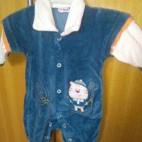 1634-Macacão azul tigre - Prematuro - Celui Baby