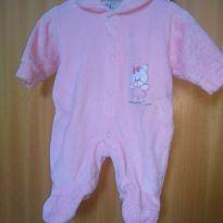 1633-Macacão rosa ursinha - Prematuro - Creep Baby