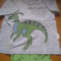 1621-Pijama dinossauro - 24 a 36 meses - Cara de Criança