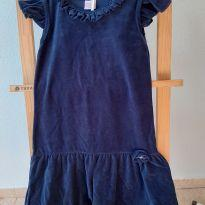 1647-Vestido marinho - 10 anos - Paola BimBi