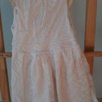 1644-Vestido branco rendado - 7 anos - Zara