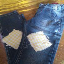 1666-Calça jeans junina - 8 anos - Akiyoshi