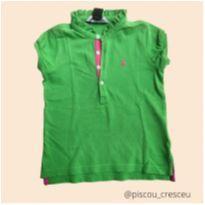 1875 - Camiseta verde  e rosa - 4 anos - Ralph Lauren