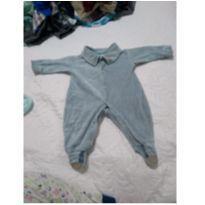 Macacão Cinza - 3 a 6 meses - Soninho Infantil