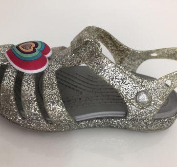 Sandália Crocs glitter prata C7 (21/22) - 22 - Crocs