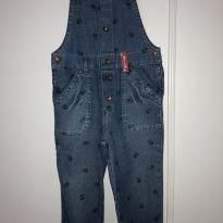 Macacão jeans tam 3 - 3 anos - Alphabeto