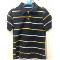 Camisa Polo Tommy azul listrada tam 6/7 anos - 6 anos - Tommy Hilfiger