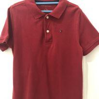 Camisa Polo Tommy Cor bordô tam 6/7 anos - 6 anos - Tommy Hilfiger