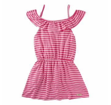 Vestido Listrado Com Alça - 4 anos - Abrange e vestido lindo