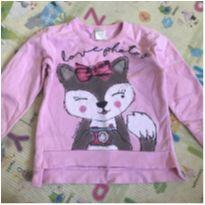Blusa de Moletom Rosa - 6 anos - PIMENTINHA KIDS