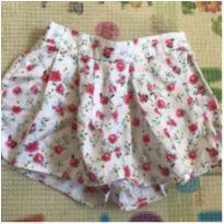 Saia Shorts Floral - 18 a 24 meses - Baby Club