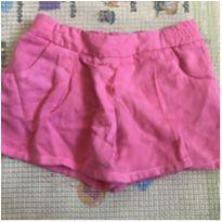 Saia Shorts Rosa - 12 a 18 meses - Baby Club