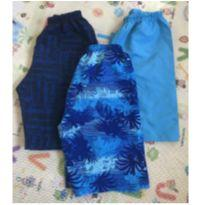 Lote de bermudas/shorts tactel - 6 anos - Elian e Tricae