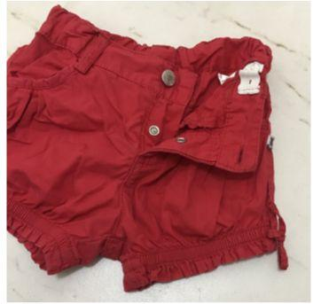 Shorts Vermelho - 9 a 12 meses - Renner e Teddy Boom