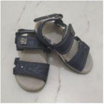 Sandália Azul Velcro - 19 - Klin