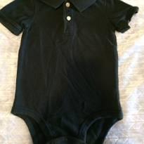 Body Polo Preta Carters 18 meses - 18 meses - Carters - Sem etiqueta