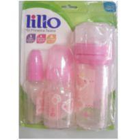 Kit mamadeiras Primeiros Passos rosa Lillo - NOVO SEM USO
