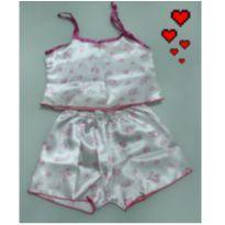 Pijama curto infantil - menina 3 anos - NOVOS - liquida! - 3 anos - Não informada