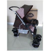 Carrinho berço bebê Tutti Baby - marrom-rosa NOVO NA CAIXA SEM USO -  - TUTTI BABY