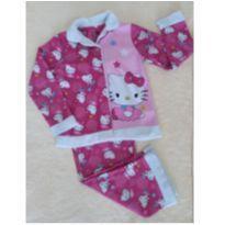 Pijama longo em fleece 7 anos - Hello Kiitty - lindo! Oportunidade! - 7 anos - Importada