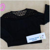 Blusa moletom cropped Miss Young menina 9 anos - linda! - 9 anos - Miss Young