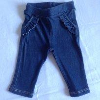 Calça Legging Jeans - 0 a 3 meses - Mini & Kids