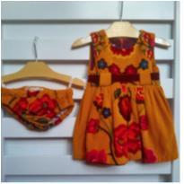 Vestido Floral de veludo - Único - Fábula