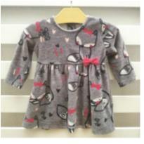 Lindo vestido raposinha veludo - 9 meses - Chicco