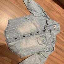 Camisa jeans Poá - Linda!! - 24 a 36 meses - Não informada