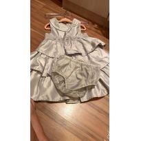 Vestido de festa Prata - Gymboree - 3 anos - Gymboree