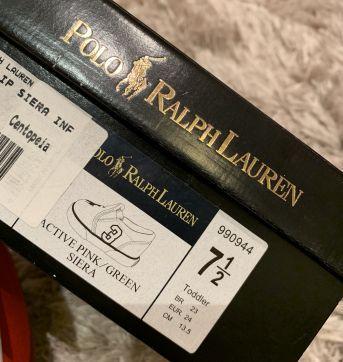 Tênis pink Ralph Lauren - original - 23 - Ralph Lauren