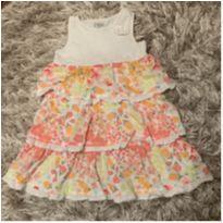 Vestido floral - Babados - 24 a 36 meses - OshKosh