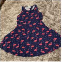 Vestido verão - Flamingos - 4 anos - Malwee