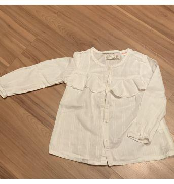 Camisa branca Zara - 24 a 36 meses - Zara Baby