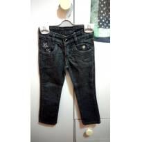 Calça Comprida Jeans Preta - 2 anos - Papa Tuti