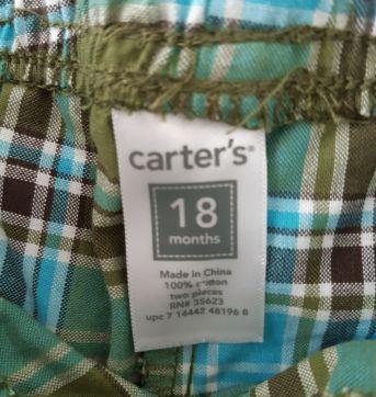 Bermudinha Carters - 18 meses - Carter`s