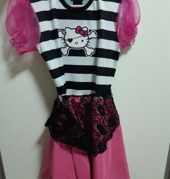 Fantasia Hello kitty pirata - 7 anos - basica e cia