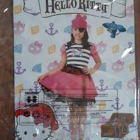 Fantasia Hello kitty pirata - 7 anos - basica e cia