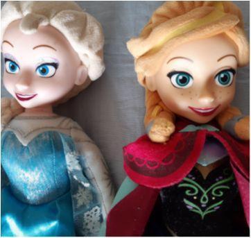 Bonecas Ana e Elsa. - Sem faixa etaria - Importada