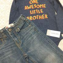 Conjunto body e calça. - 2 anos - Carter`s e Levi`s