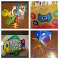 Lote brinquedos musicais e educativos.