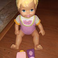 Boneca little mommy talquinho