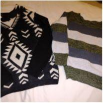 Dois tricots menino - 24 a 36 meses - Artesanal