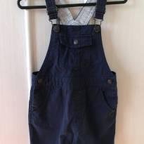 Jardineira Azul Marinho em Sarja - Zara - Tam 9-12 mêses - 9 a 12 meses - Zara Baby