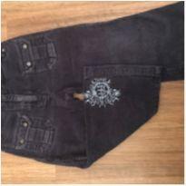 Calça em veludo azul - boot cut - unissex - tam 2 - Esprit Mini - 2 anos - esprit
