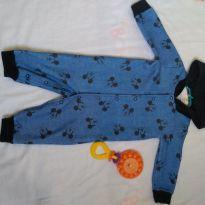 Macacão Mikey azul com capuz - 3 a 6 meses - Disney e Disney baby