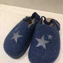 Pantufa Azul com estrela - 27 - Zara Home Kids
