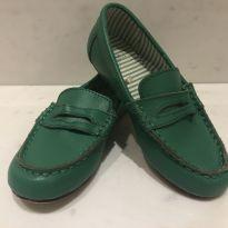 Sapato Moccasin Verde em Couro - 28 - Janie and Jack